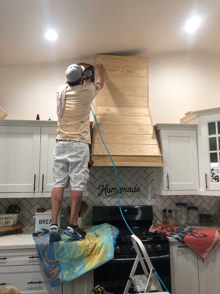 How to DIY a Modern Farmhouse Wood VENT Hood