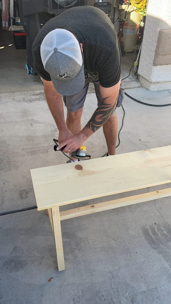 DIY- How to build cool rustic wood bench for $30