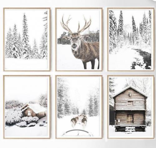 Christmas Gallery Art Set of six