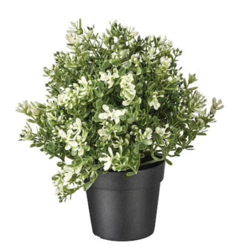 Greenery for metal planter for rod