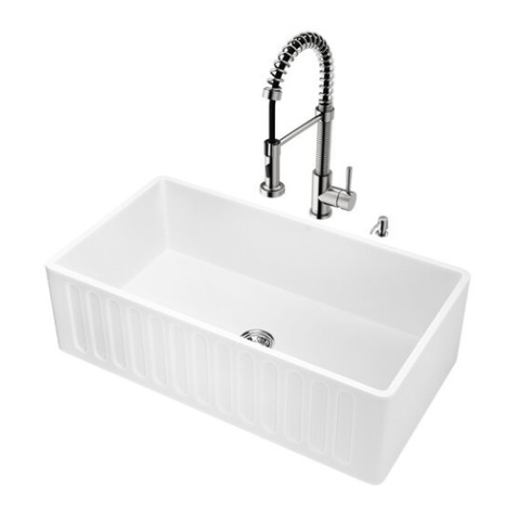 Our Kitchen Sink- comes with faucet