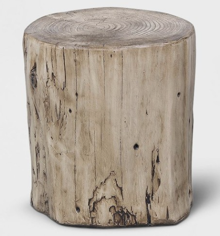 Faux wood stump