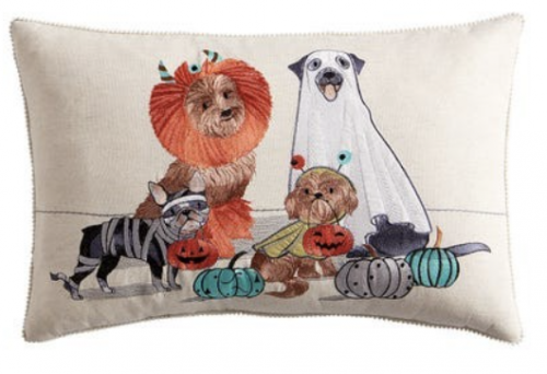 Halloween dog pillow