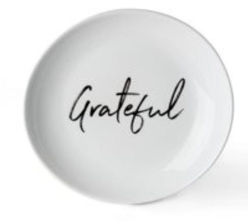 Grateful salad plate