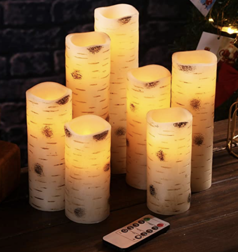battery operated candles w/ remote