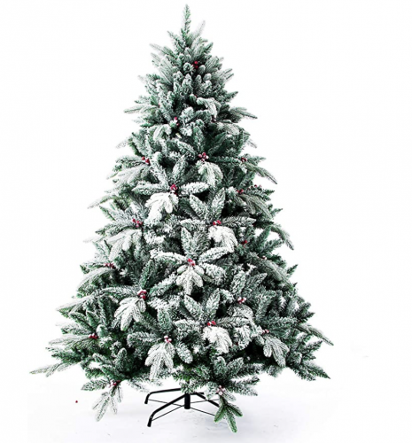 Flocked 7' Christmas Tree