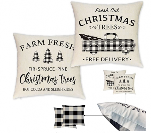 Christmas pillow casesdouble sided